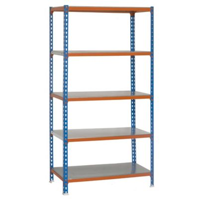 Kit Estantería SimonClick Plus 5/500 Azul/Naranja/Galvanizado