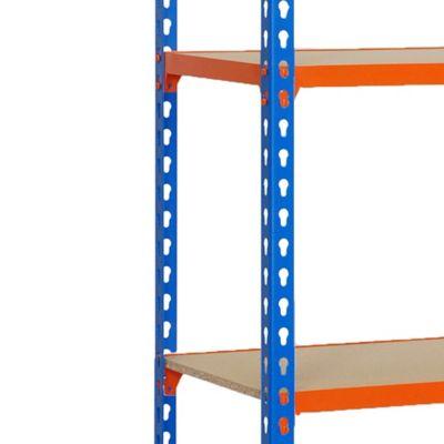 Kit Estantería MaderaClick Mini 5/300 Azul/Naranja/Madera