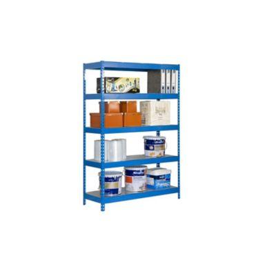 Kit Estantería Bricoforte 1206-5 Metal Azul/Galvanizado