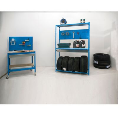 Kit Estantería Simonracing Box Megaplus 3/400 Azul/Galvanizado