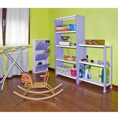 Kit Estantería Homeclassic Plus 3/400 Violeta/Blanco