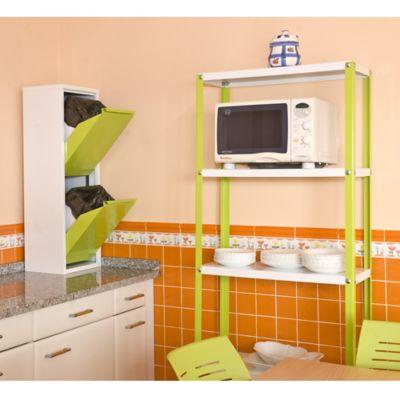 Kit Estantería Homeclassic Mini 5/400 Verde/Blanco