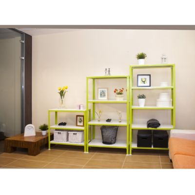 Kit Estantería Homeclick Plus 4/300 Verde/Blanco