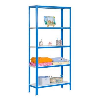 Kit Estantería Homeclick Mini 5/400 Azul/Blanco