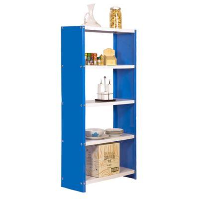Kit Estantería Habitat Plus 5/300 Azul/Blanco