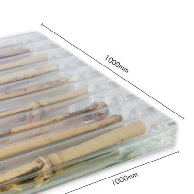 Polibambu Nudos Natural Cristal 8mm de 1.00 x 1.00 Mts Paquete x 5 Unidades