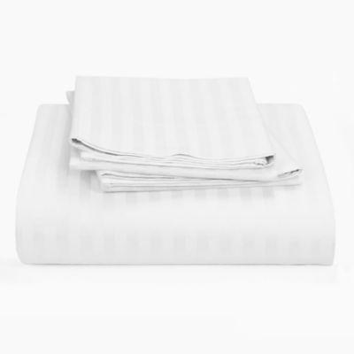 Juego Sábana Sencillo Blanco Microfibra 70 gr