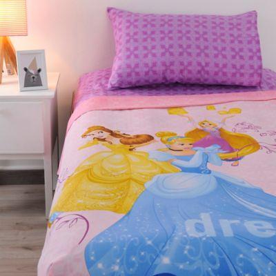 Juego Sábana Semidoble 150 Hilos Princesas Dreamers