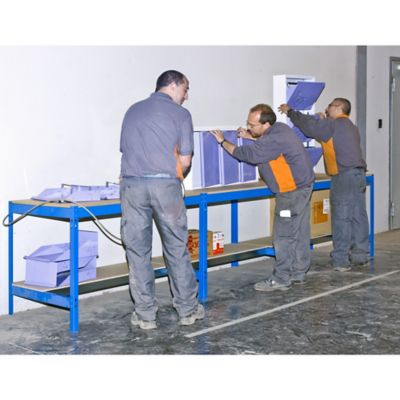 Banco de Trabajo Bt0 1500 Azul/Madera Carga Máx. 600 Kgs