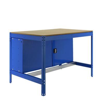 Banco de Trabajo con Almacenamiento Bt0 Locker 1200 Azul/Madera Carga Máx. 600 Kgs