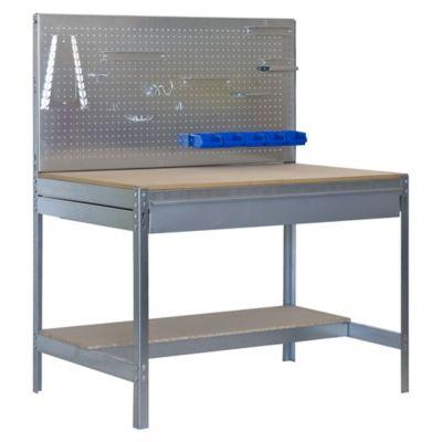Banco de Trabajo con Panel Click y Cajón Bt2 Box 900 Galva/Madera Carga Máx. 400 Kgs