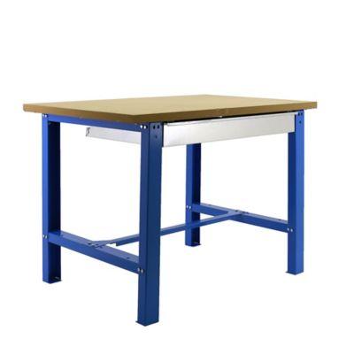Banco de Trabajo + Cajón Bt6 Box Plywood 1200 Azul/Madera Carga Máx. 800 Kgs
