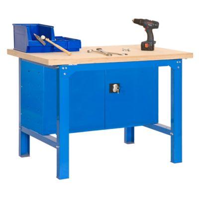 Banco de Trabajo + Almacenamiento Bt6 Plywood Locker 1500 Azul/Madera Carga Máx. 800 Kgs