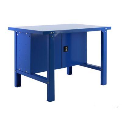 Banco de Trabajo Metálico + Almacenamiento Bt6 Metalic Locker 1200 Azul Carga Máx. 800 Kgs
