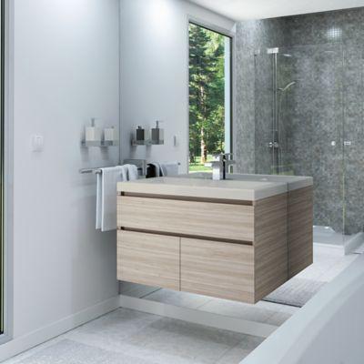 Mueble de baño Macao Latte 79x48 cm con lavamanos Bari hueso