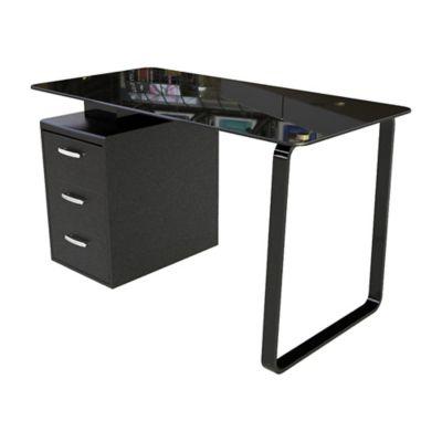 Escritorio Secretarial 130x65x75cm Metal/Vidrio