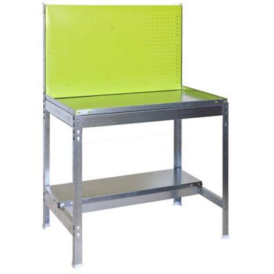 Kit Mesa de Trabajo para Jardín BT2 120x60 cm Verde - Galvanizado