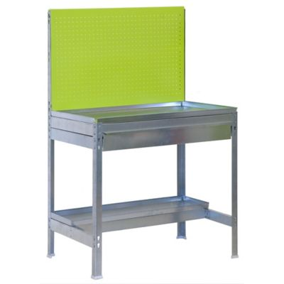 Kit Mesa de Trabajo para Jardín BT2 Box 90x40 cm Verde - Galvanizado