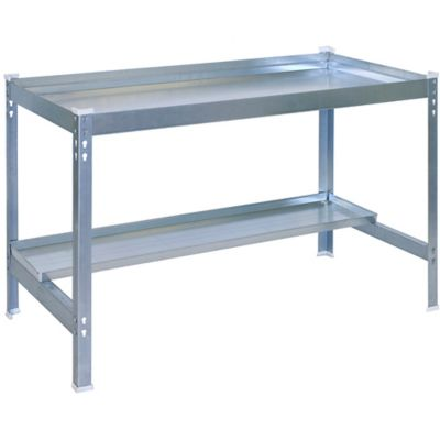 Kit Mesa para Jardín Desk 90x60 cm Galvanizado