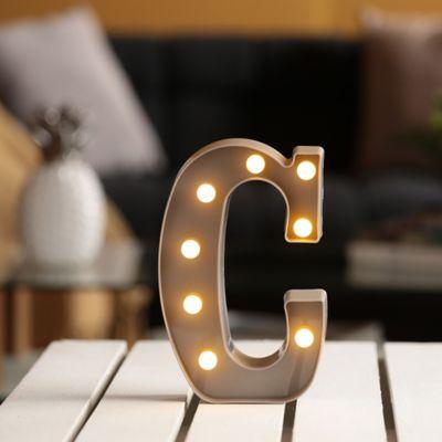 Lámpara Decorativa Letra C Gris