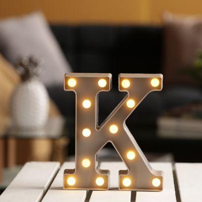 Lámpara Decorativa  Letra K Gris