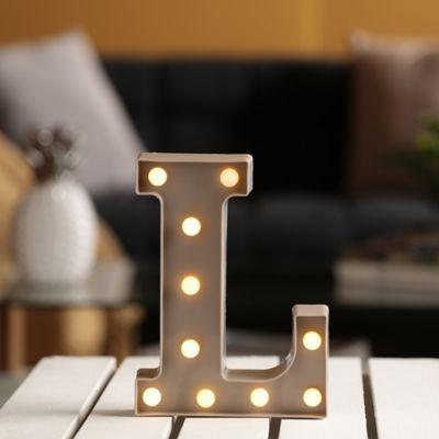 Lámpara Decorativa  Letra L Gris
