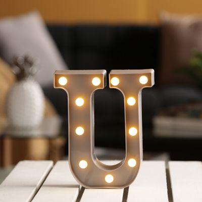 Lámpara Decorativa Letra U Gris