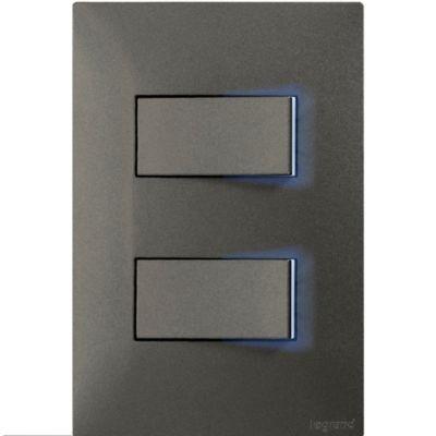 Interruptor Doble Luzp 10A Olivo X10Und