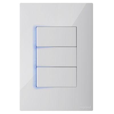 Interruptor Triple Luzp 10A 127V X5Und