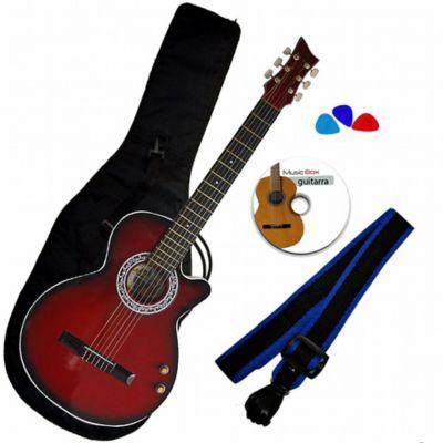 Combo AX Guitarra ElectroAcústica + Boquete Rojo