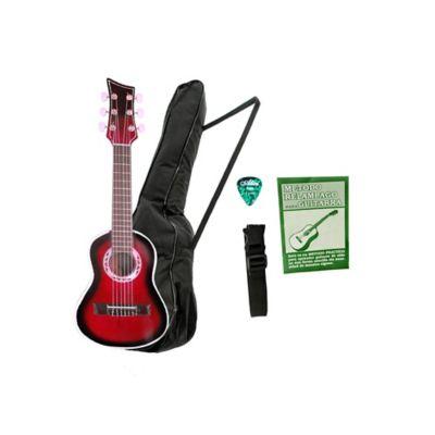 Combo Guitarra  CR Acústica Infantil Rojo