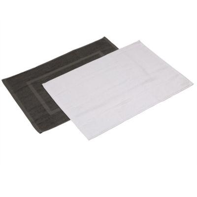Set x2 Tapete Baño 40x60 cm 660 gr Blanco/Gris