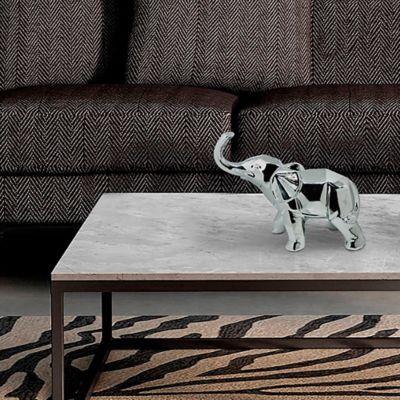 Escultura Elefante 26 cm Plata Vulcano