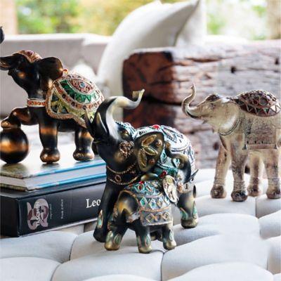 Escultura Elefante x2 Mystical Café 21,8cm