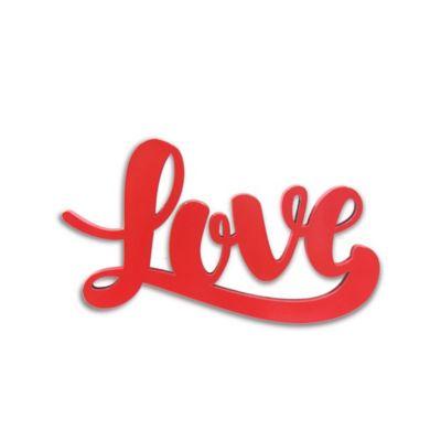 Aplique Pared Love 13,3 cm Rojo Mambo