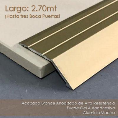 Rampa Autoadhesiva en Aluminio - Bronce