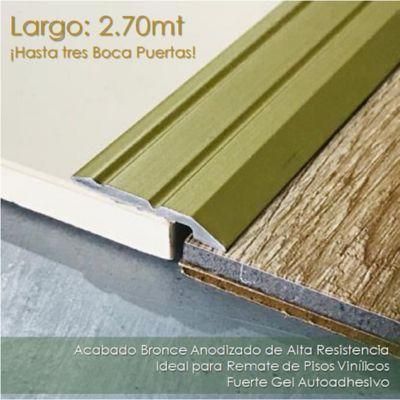 Rampa Autoadhesiva en Aluminio para vinyl - Bronce