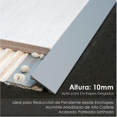 Rampa en Aluminio para Ajustar Cerámica
