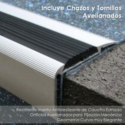 Nariz Curva en Aluminio con Inserto de Caucho
