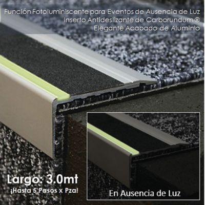 Nariz Aluminio Antideslizante y Fotoluminiscente