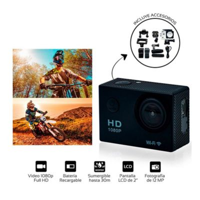 Cámara Web Deportiva Recargable WIFI 1080P FullHD