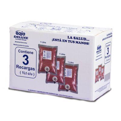 Jabón Líquido Antibacterial para Dispensador Bolsas x 3 Unidades