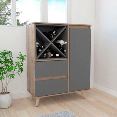 Mueble para Bar Salem 110x85.5x40cm Miel/Plomo