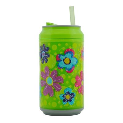 Botella 360ml Tipo Lata Doble Pared Flores