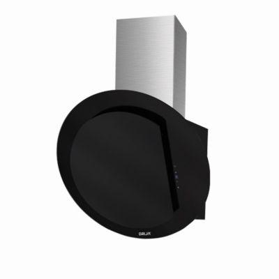 Campana Extractor Decorativa 60 cm Tipo Chimenea en Vidrio 3 Velocidades Templado Negro