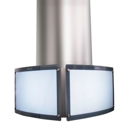 Campana Extractora tipo Isla 60cm con Lámpara Decorativa 3 Velocidades con Push Button LED Acero