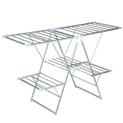Tendedero Piso Aluminio Doble 156x61.5x99cm