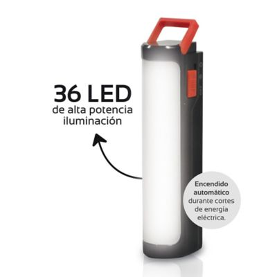 Luz De Emergencia De 36 LED Recargable Alto Brillo