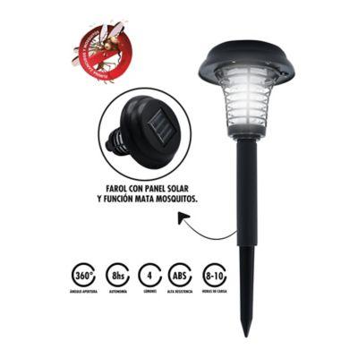 Lámpara Solar Exteriores Con Matamosquitos