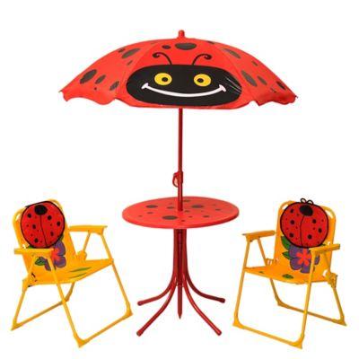 Juego Terraza Infantil Ladybug 4 Piezas